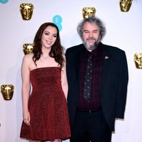 Peter Jackson and his daughter at the BAFTAs 2019 red carpet