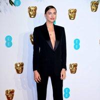 Irina Shayk at the BAFTAs 2019 Red Carpet