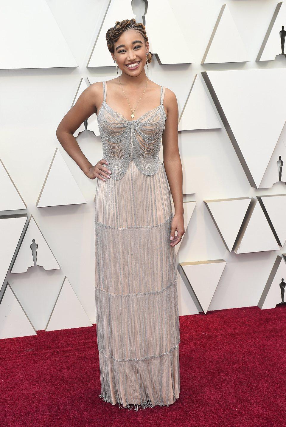 Amandla Stenberg at the Oscars 2019 red carpet