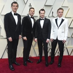 Gwilym Lee, Allen Leech, Joseph Mazzello and Ben Hardy at the 2019 Oscars