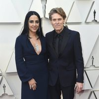 Willem Dafoe and Giada Colagrande on the red carpet at the Oscars 2019