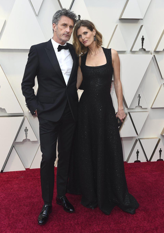 Pawel Pawlikowski and Malgosia Bela on the red carpet at the Oscars 2019