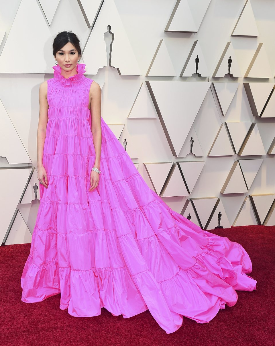 Gemma Chan on the red carpet at the Oscars 2019
