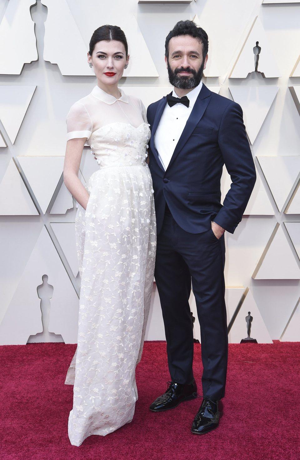 Marta Nieto and Rodrigo Sorogoyen at the Oscars 2019 red carpet