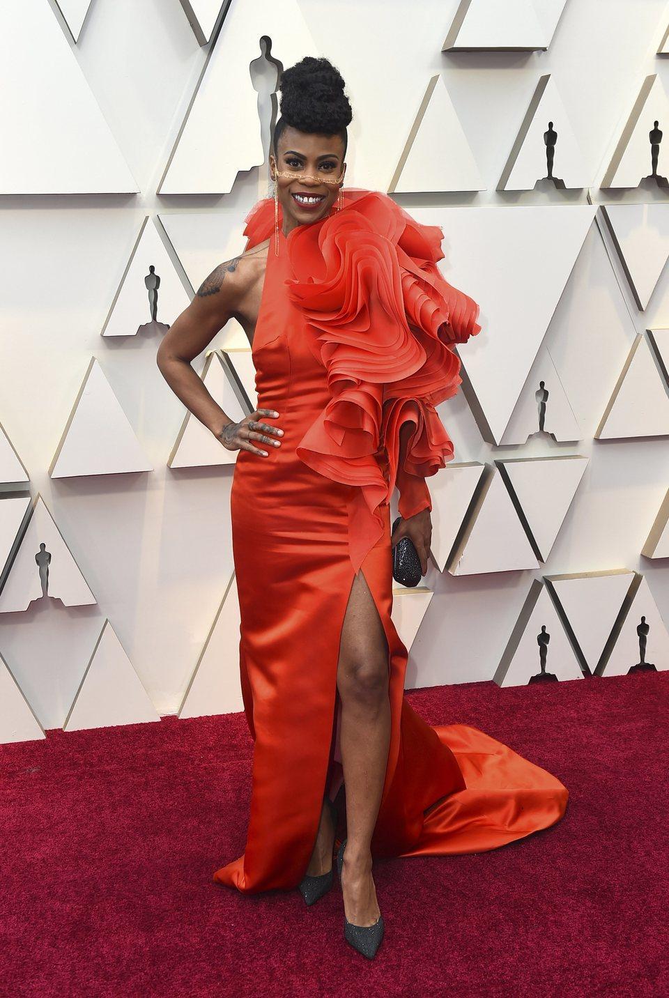 Hannah Beachler on the red carpet at the Oscars 2019