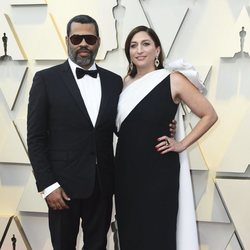 Jordan Peele and Chelsea Peretti at the 2019 Oscars
