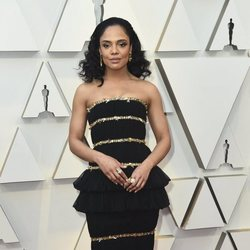 Tessa Thompson on the red carpet at the Oscars 2019