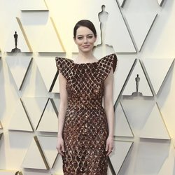 Emma Stone on the red carpet at the 2019 Oscars