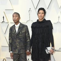 Pharrell Williams and Helen Lasichanh at the Oscars 2019 red carpet