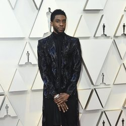 Chadwick Boseman on the red carpet of the Oscars 2019