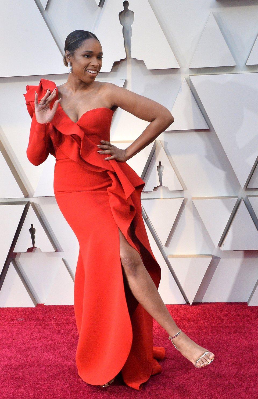 Jennifer Hudson on the red carpet at the Oscars 2019