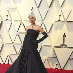 Lady Gaga on the red carpet at the Oscars 2019