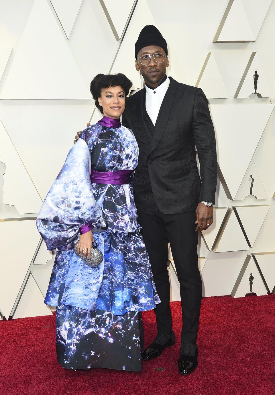 Mahershala Ali and Amatus Sami-Karim on the red carpet at the Oscars 2019