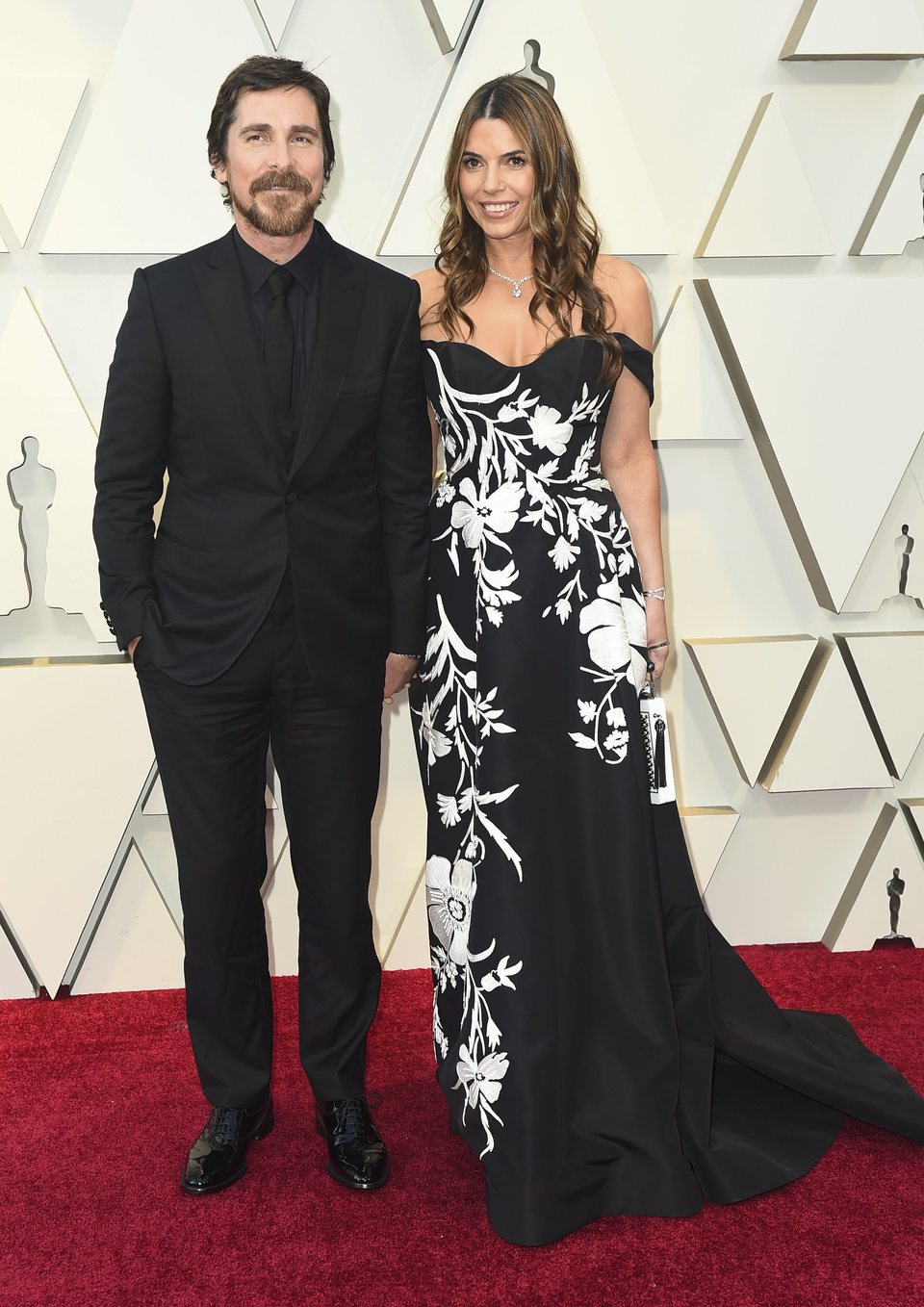 Christian Bale and Sibi Blazic on the red carpet at the Oscars 2019