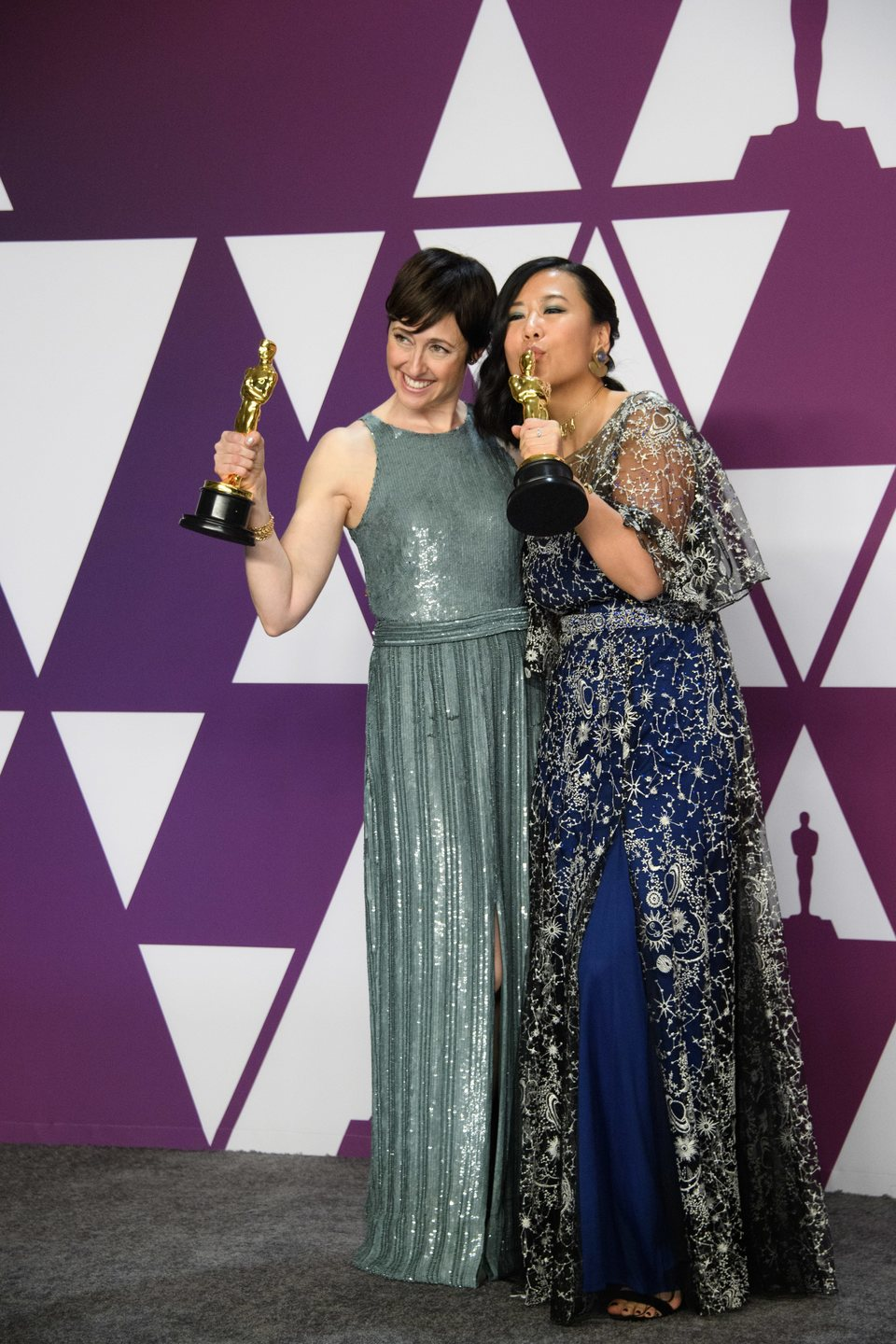 Oscar winners for Best Animated Short Film pose with their