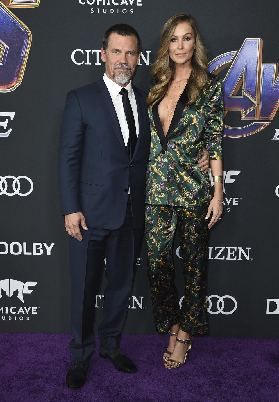 Josh Brolin and Karthyn Boyd on the red carpet of 'Avengers: Endgame'