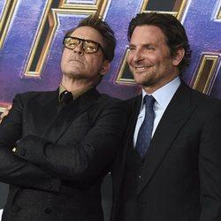 Robert Downey Jr and Bradley Cooper on the red carpet of 'Avengers: Endgame'
