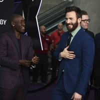 Don Cheadle and Chris Evans on the red carpet of 'Avengers: Endgame'