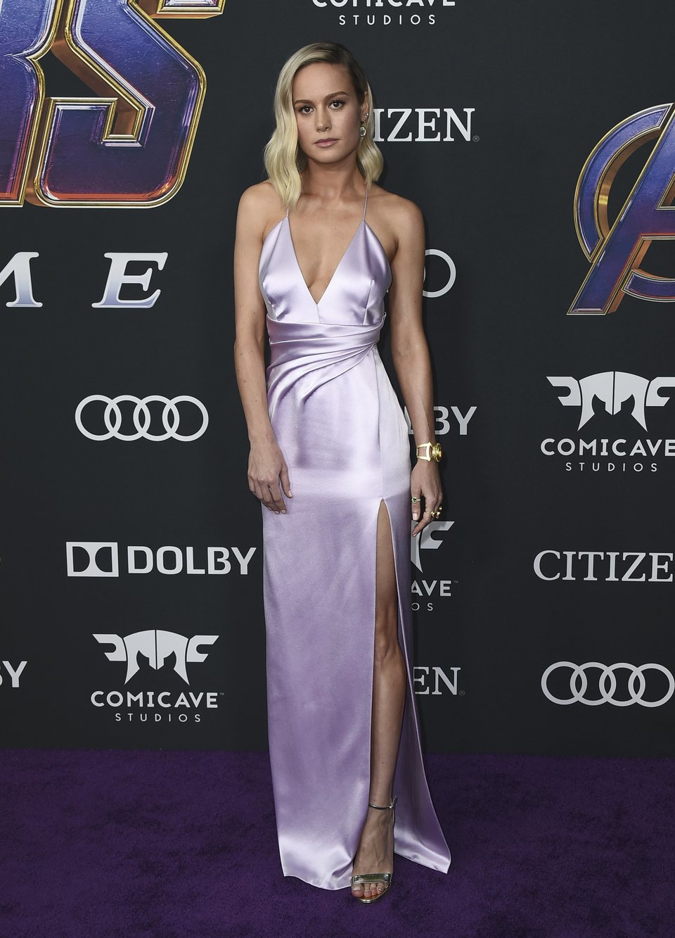 Brie Larson on the red carpet of 'Avengers: Endgame'