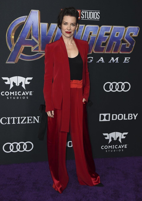 Evangeline Lilly on the red carpet of 'Avengers: Endgame'