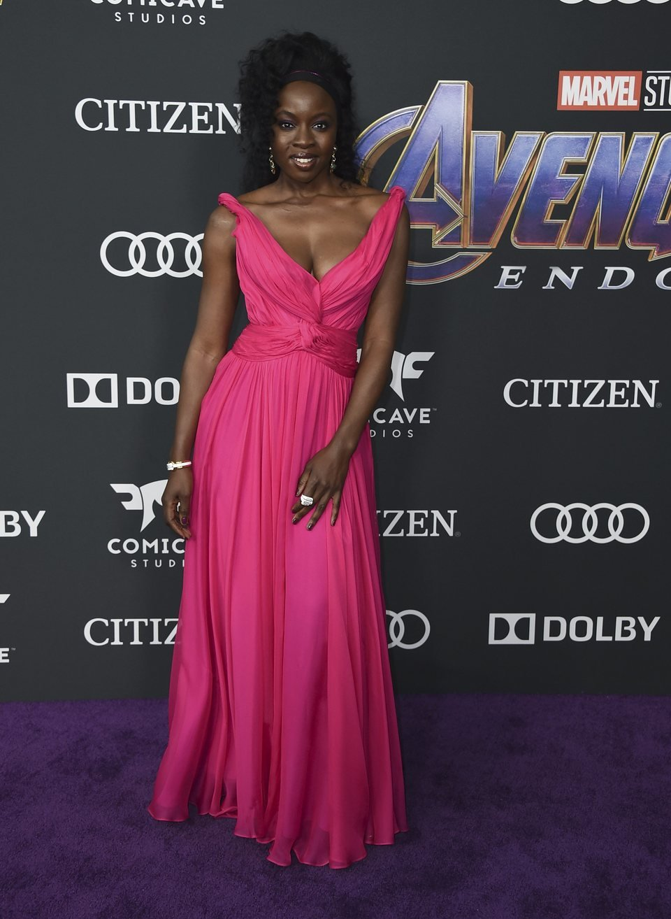 Danai Gurira on the red carpet of 'Avengers: Endgame'