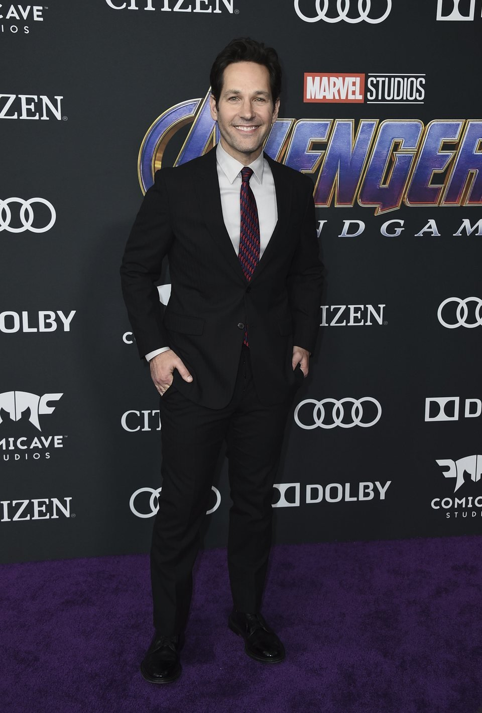 Paul Rudd on the red carpet of 'Avengers: Endgame'