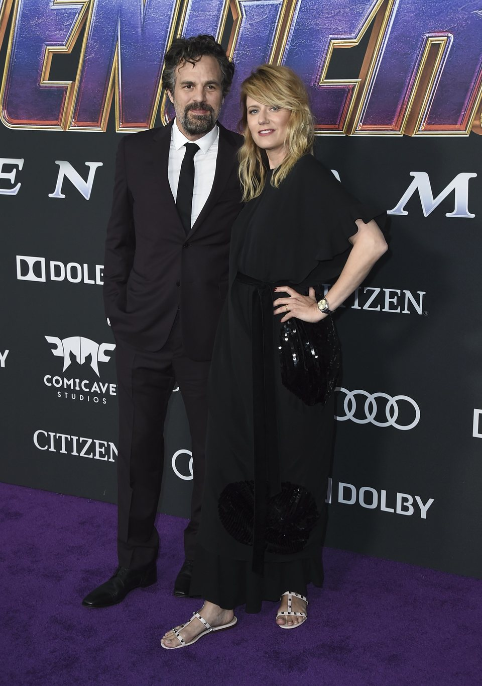 Mark Ruffalo and Sunrise Coigney on the red carpet of 'Avengers: Endgame'