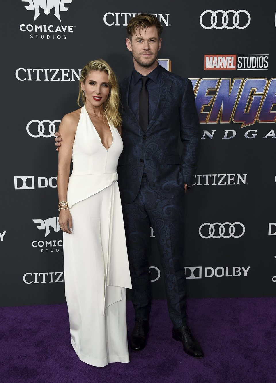 Chris Hemsworth and Elsa Pataky on the red carpet of 'Avengers: Endgame'