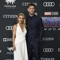 Chris Hemsworth and Elsa Pataky on the red carpet of 'Avengers: Endgame'