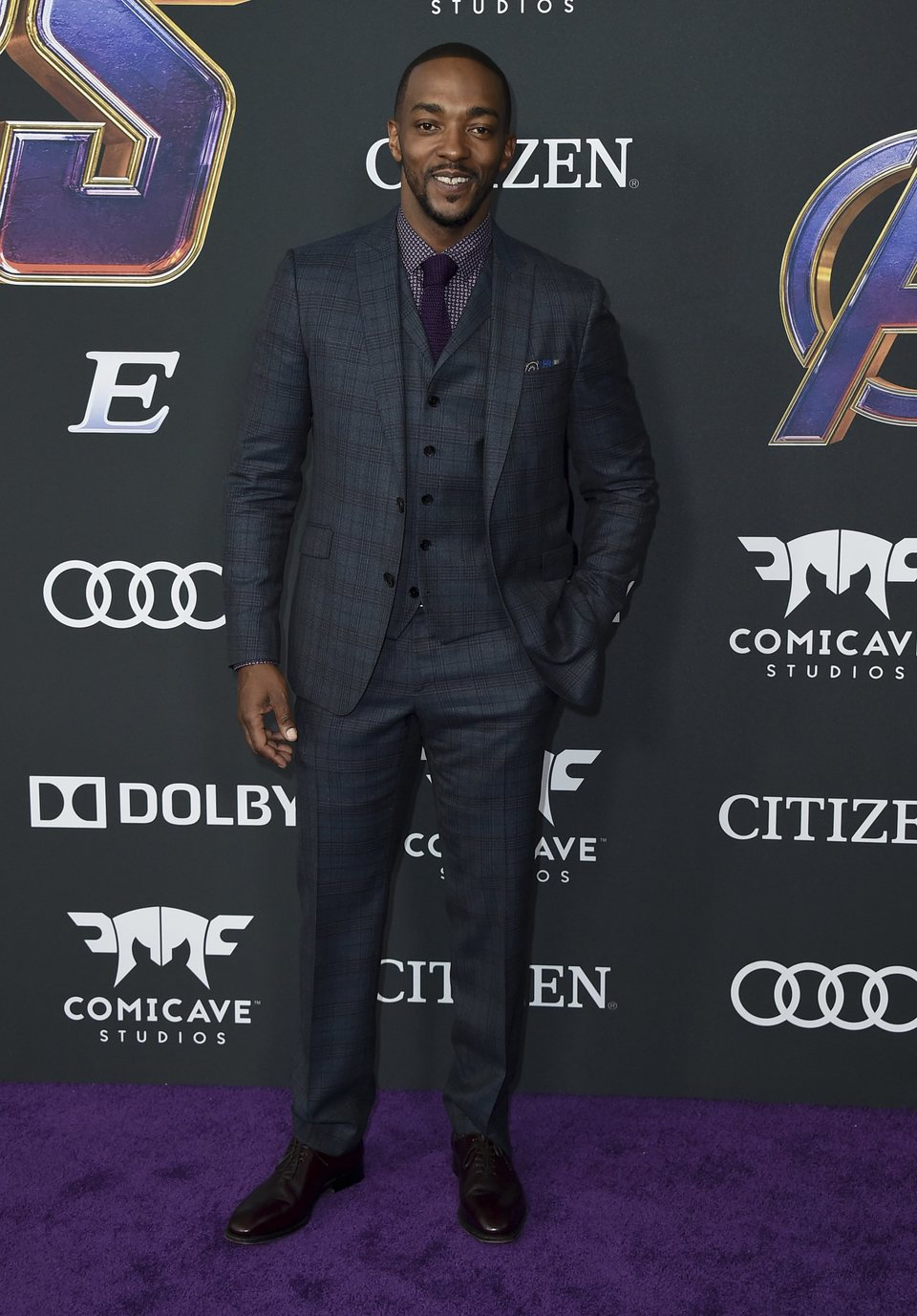 Anthony Mackie on the red carpet of 'Avengers: Endgame'