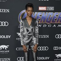 Letitia Wright on the red carpet of 'Avengers: Endgame'