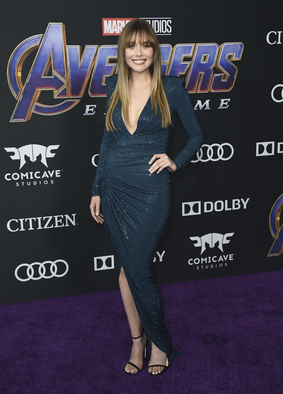 Elizabeth Olsen on the red carpet of 'Avengers: Endgame'