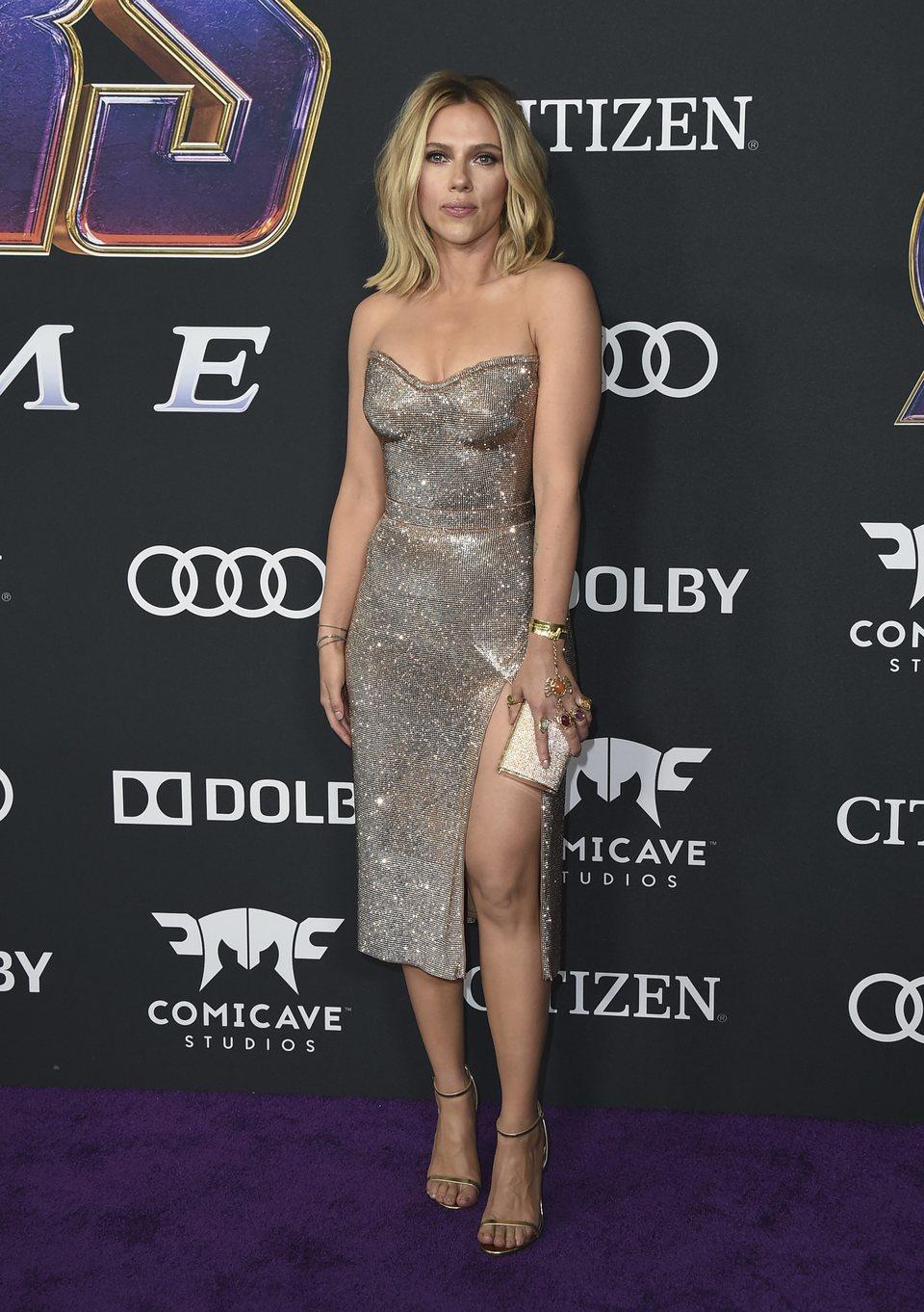 Scarlett Johansson on the red carpet of 'Avengers: Endgame'