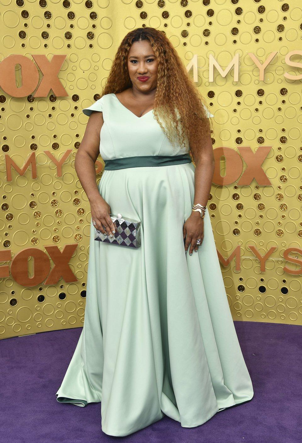 Ashley Nicole Black arrives at the 71st Primetime Emmy Awards