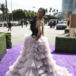 Laverne Cox at the Emmy 2019 red carpet