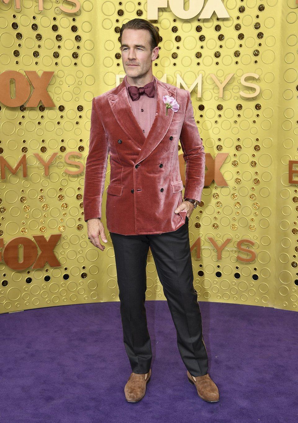 James Van Der Beek arrives at the 71st Primetime Emmy Awards