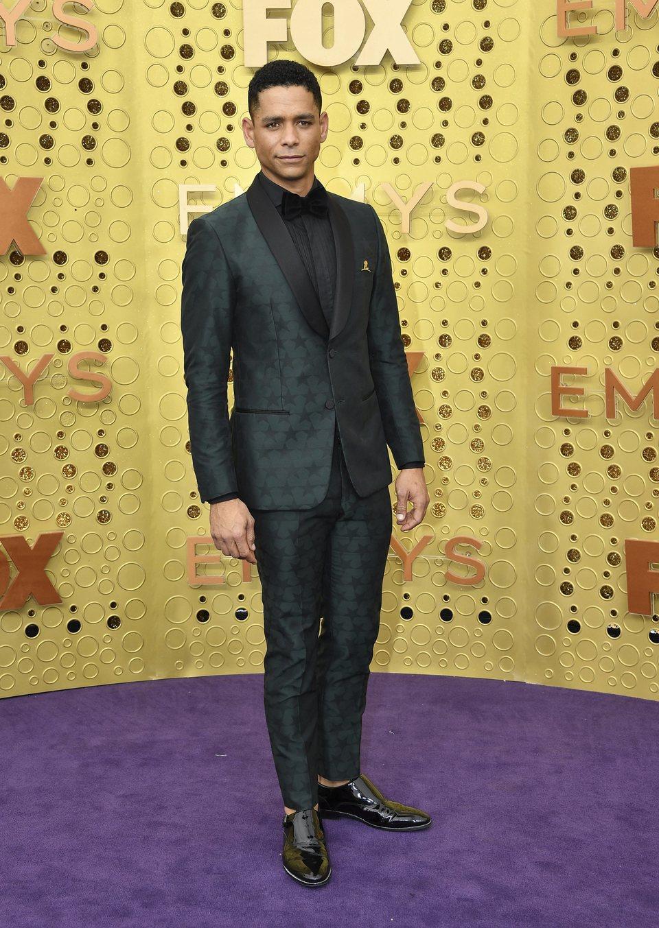Charlie Barnett arrives at the 71st Primetime Emmy Awards