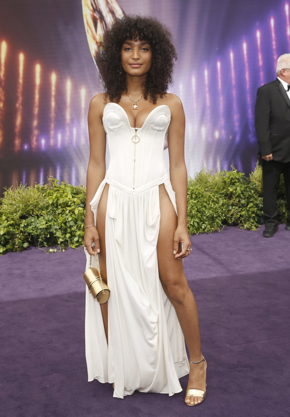 Indya Moore at the Emmy Awards 2019 red carpet