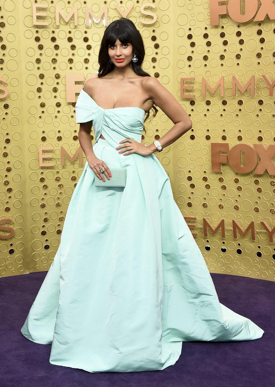 Jameela Jamil arrives at the 71st Primetime Emmy Awards