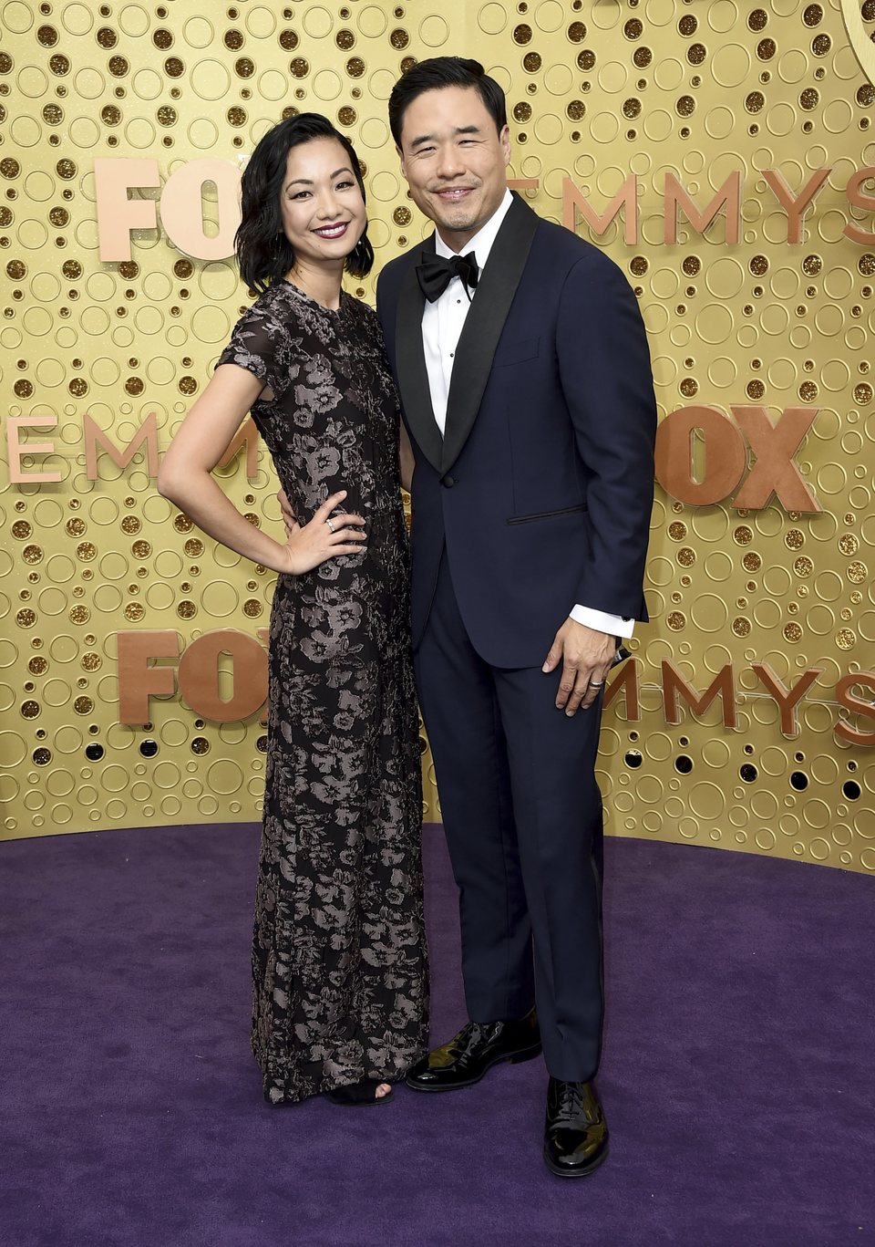 Randall Park at the Emmy 2019 red carpet