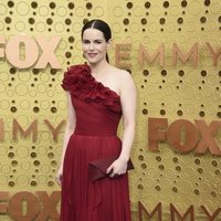 Emily Hampshire arrives at the 71st Primetime Emmy Awards