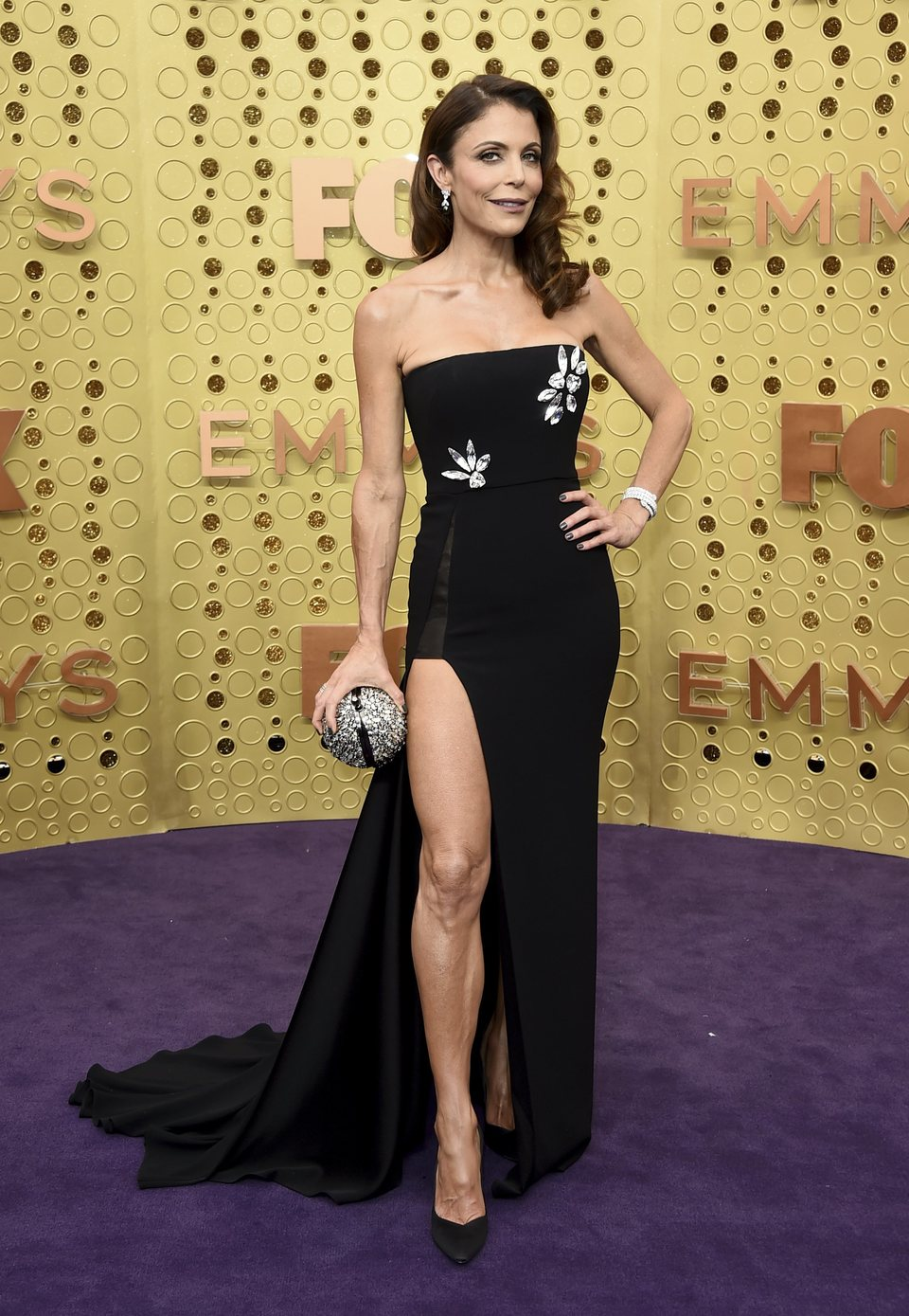 Bethenny Frankel at the Emmy 2019 red carpet