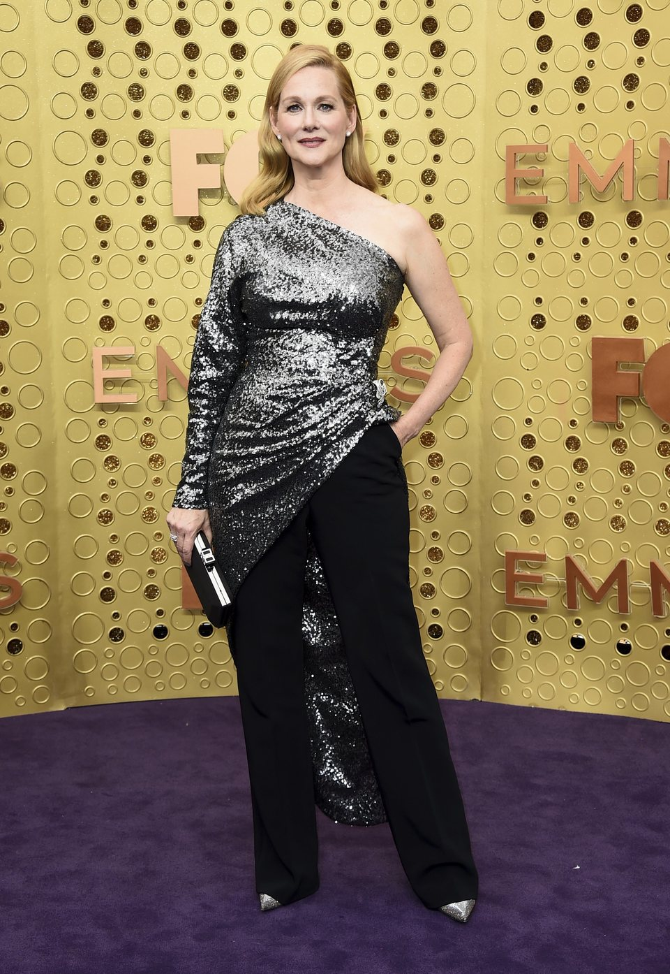 Laura Linney arrives at the 71st Primetime Emmy Awards