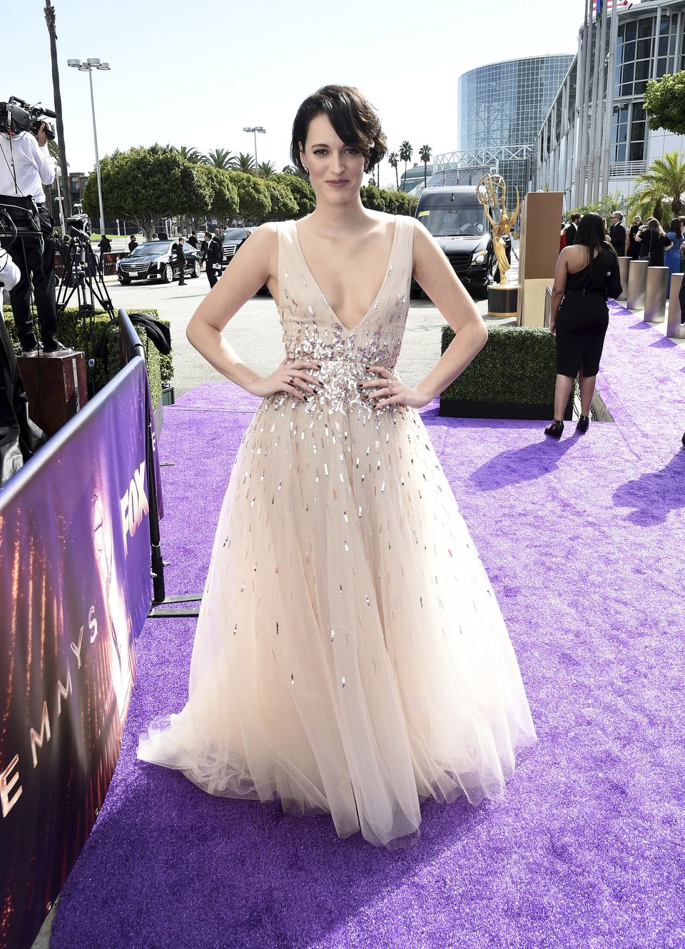 Phoebe Waller-Bridge arrives at the 71st Primetime Emmy Awards
