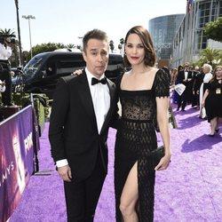 Sam Rockwell and Leslie Bibb at the Emmy 2019 red carpet