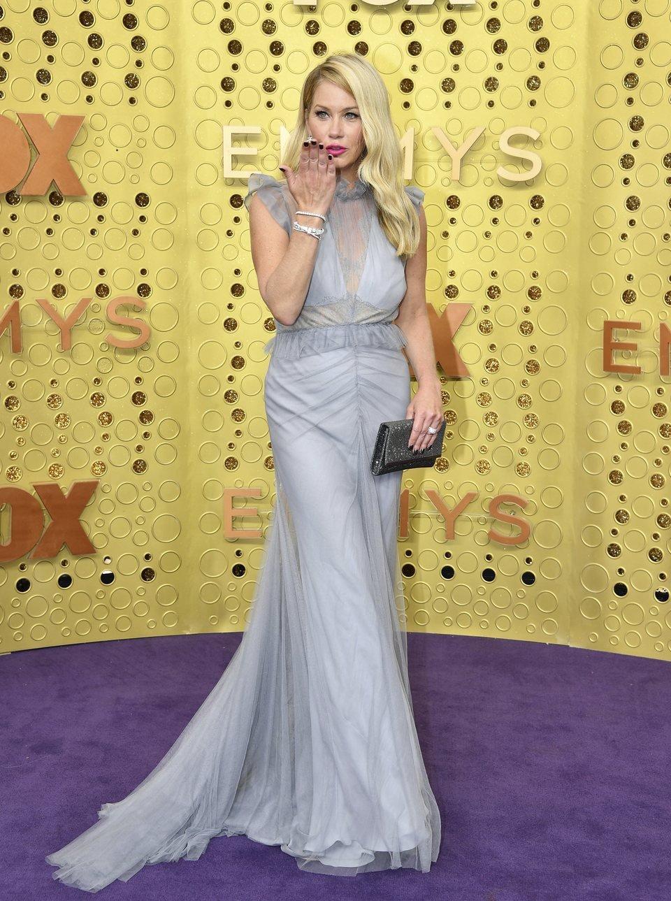 Christina Applegate at the Emmy 2019 red carpet