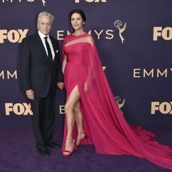Michael Douglas y Catherine Zeta Jones at the Emmy 2019 red carpet