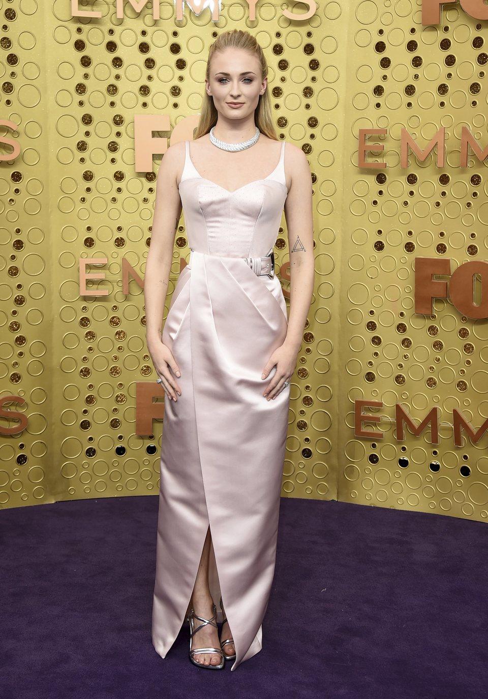 Sophie Turner at the Emmy 2019 red carpet