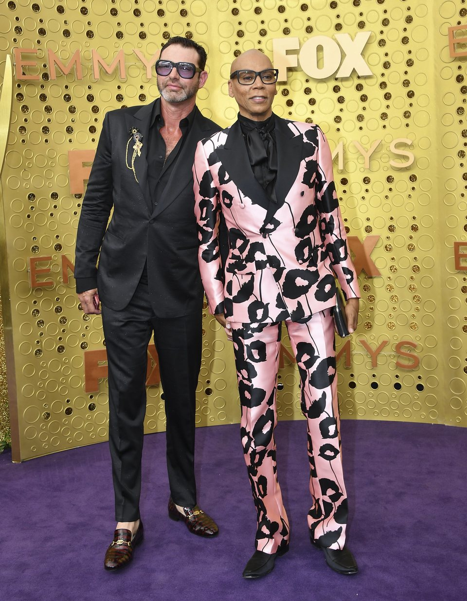 RuPaul and Georges LeBar at the Emmy 2019 red carpet
