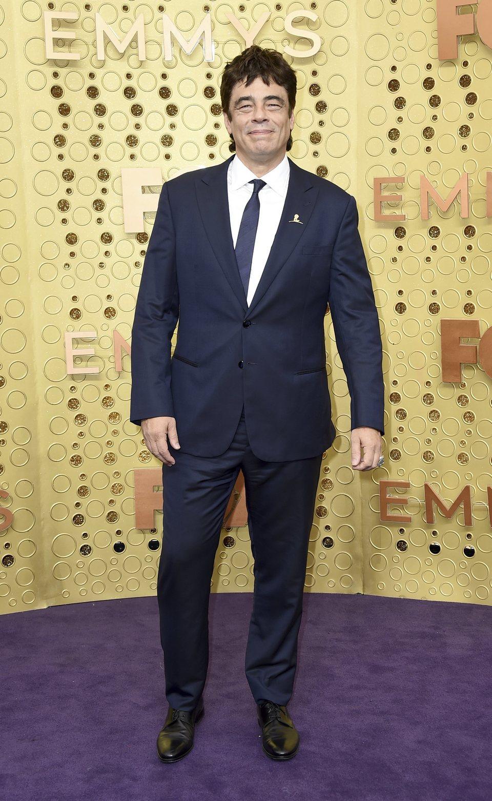 Benicio del Toro at the Emmy 2019 red carpet